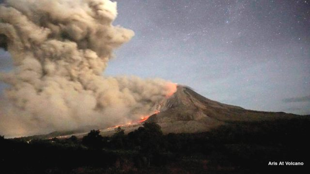 After made Lava Tongue During April to September 2014, Mount Sinabung fro Oct 5,2014 again made Pyroclastic flow arround 2-4,5km to southern flanks with ash plume about 2 km and this still continue from unsucessfully made Lava Dome