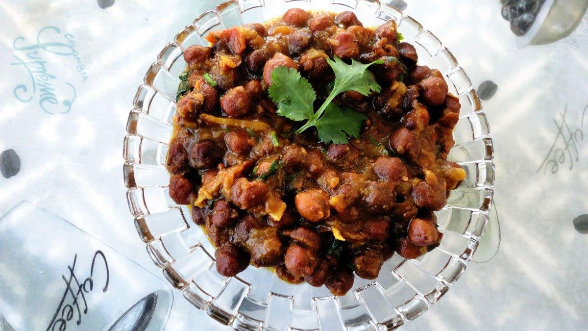 Kala Chana Masala/Black Chickpeas Gravy