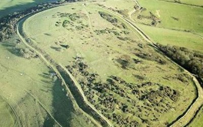 Cissbury Ring, West Sussex, UK