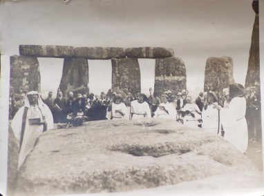Druids at Stonehenge, 1928