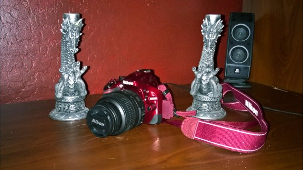 Nikon D5200 camera guarded by dragons