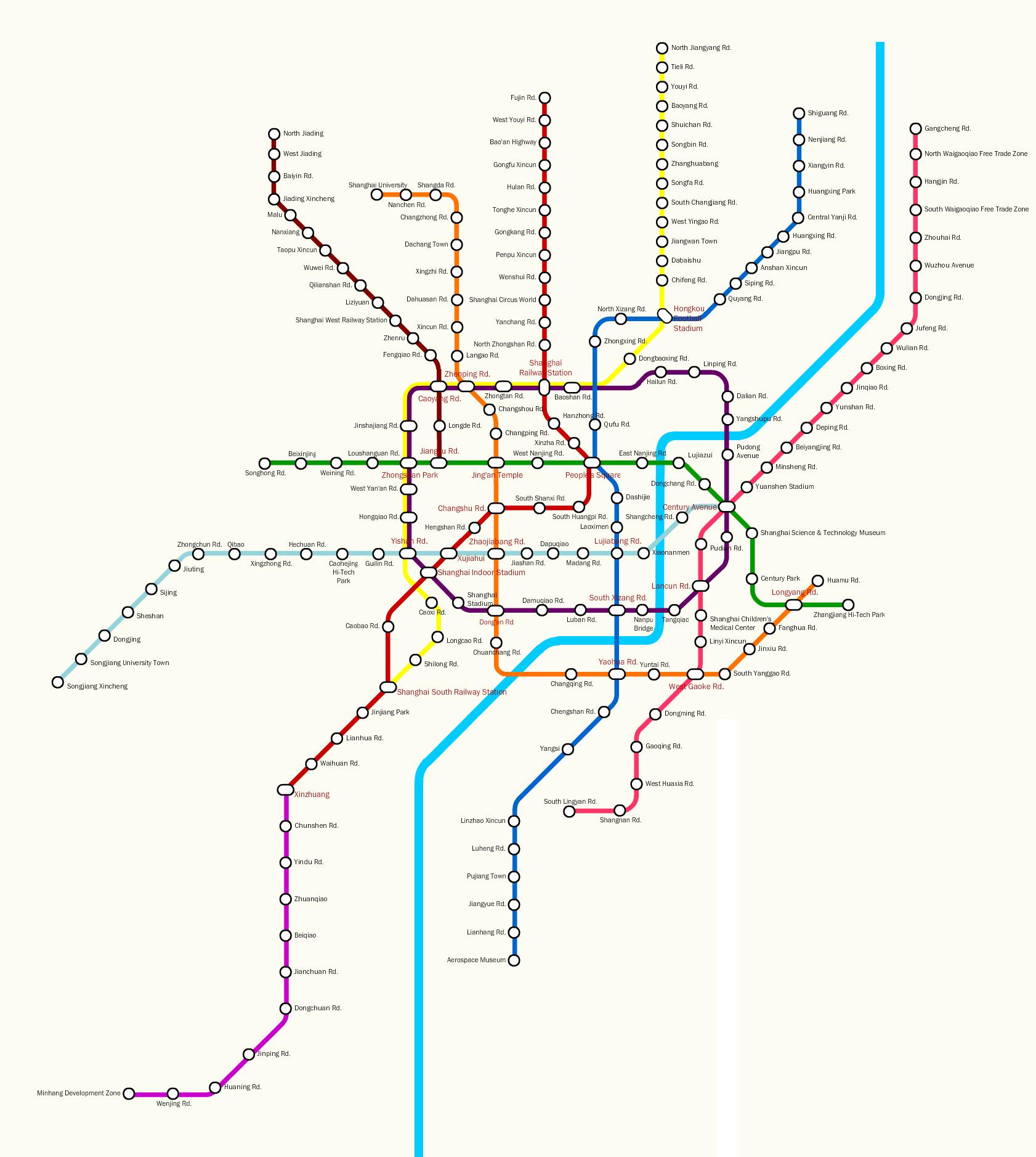 Shanghai Line Metro