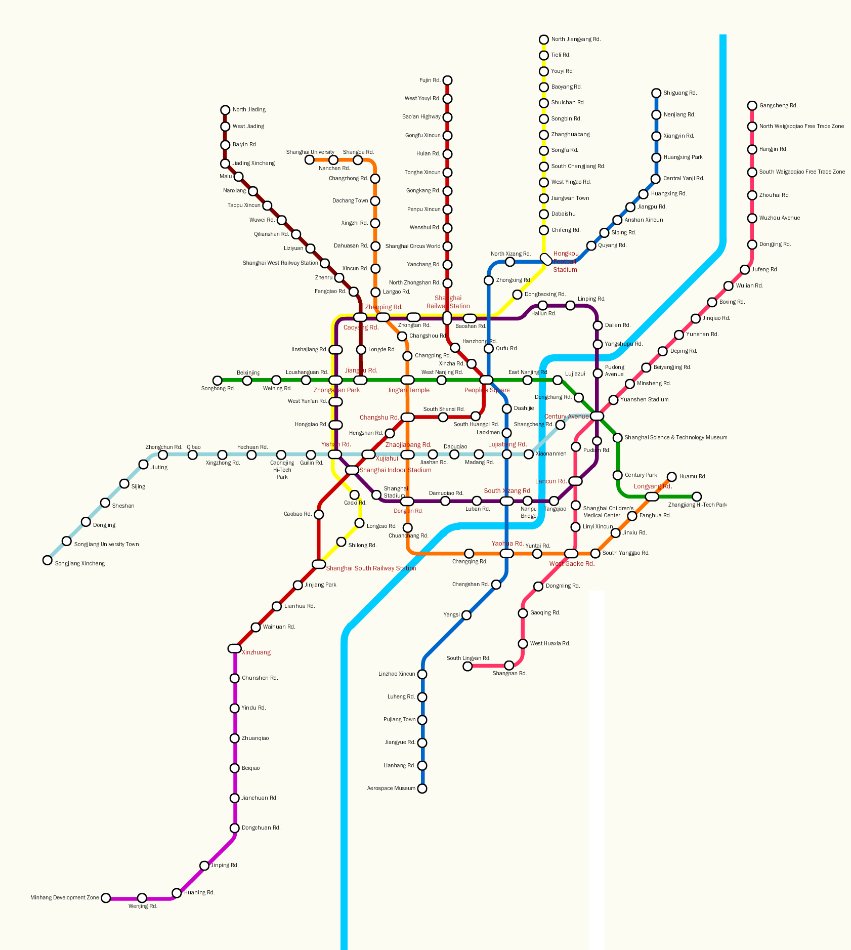 Subway Map Shanghai 2011.Shanghai Metro Line 11 Line 9 Extension Open 31 December The