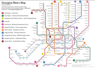 Updated Shanghai PDF metro map | the Explore blog