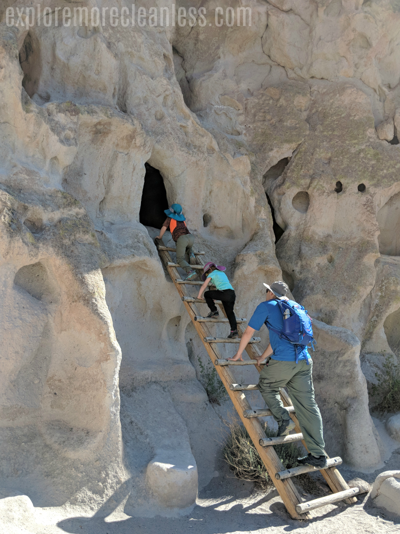 ladders bandelier national monument