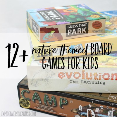 12+ nature themed board games for kids