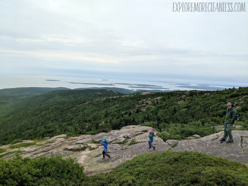 cadillac mountain with kids acadia