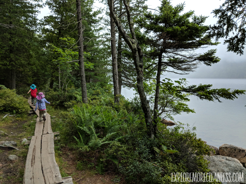 jordan pond trail kids acadia