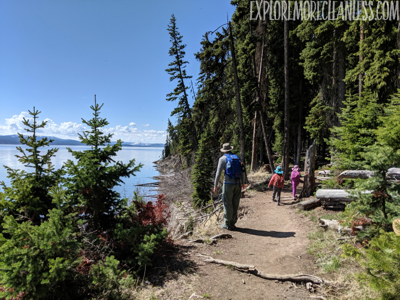 storm point trail yellowstone with kids