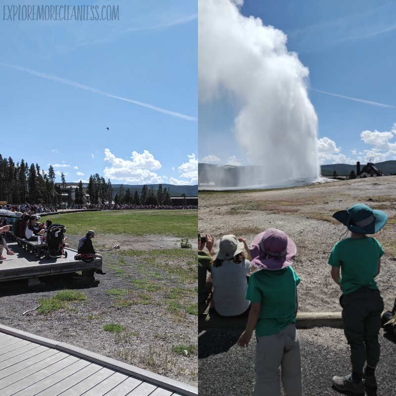 old faithful with kids