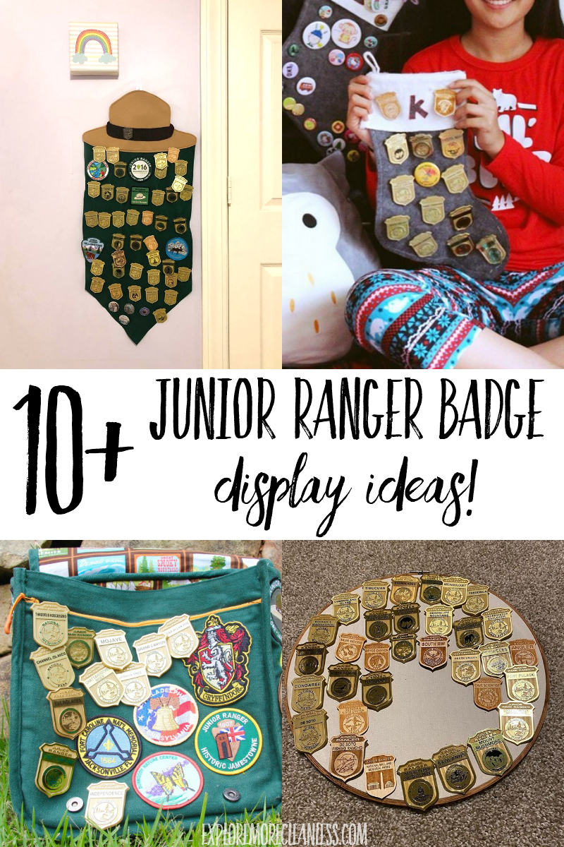national park junior ranger patch display ideas