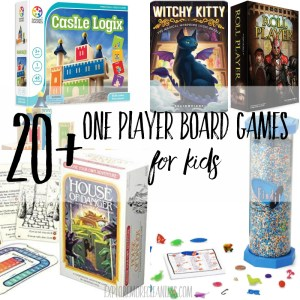 20+ fun one player board games for kids