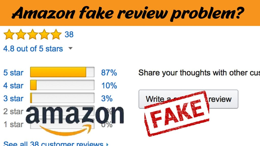 Amazon have a fake review problem?