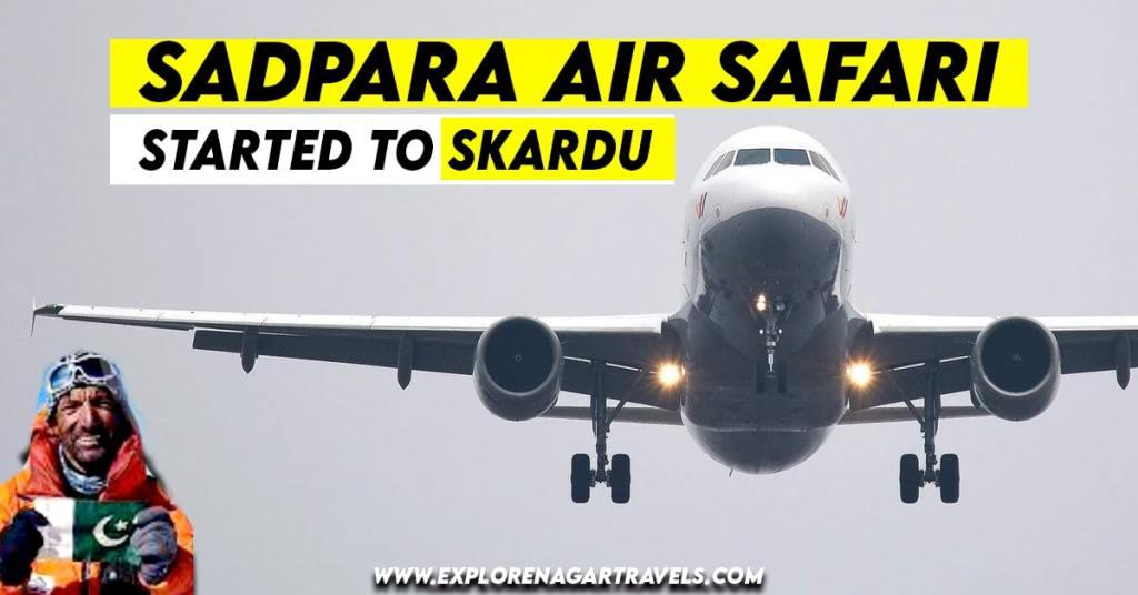 Ali Sadpara Air Safari Flight Started to Skardu from Islamabad