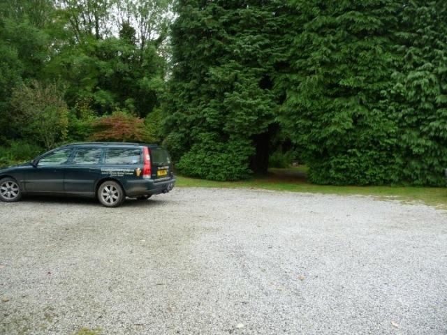 The car park for the Granary and Bowgie Cottage