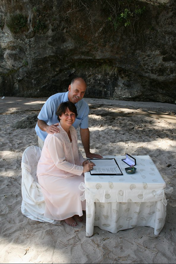 Cathy  Murrays Wedding  Cathedral Cove New Zealand