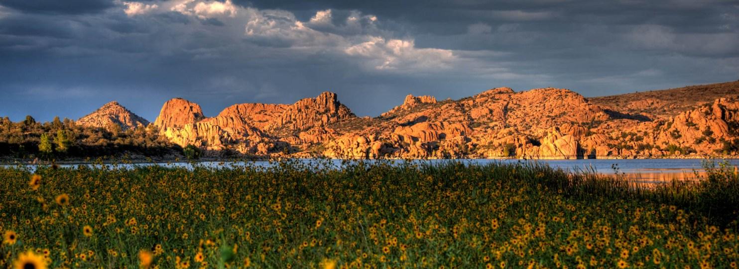Sunset at Watson Lake Park Prescott Arizona