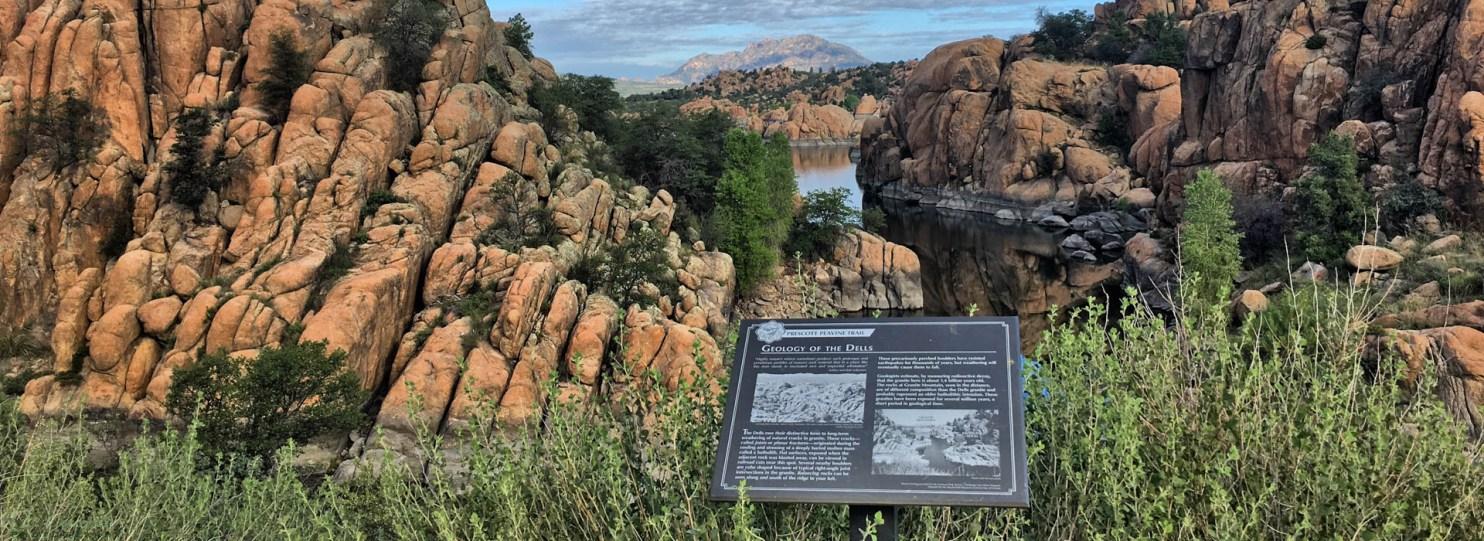A stop along the Peavine Trail Mountain Bike Ride Prescott AZ