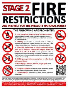 fire restrictions, prescott forest, visit prescott, explore prescott, hike prescott