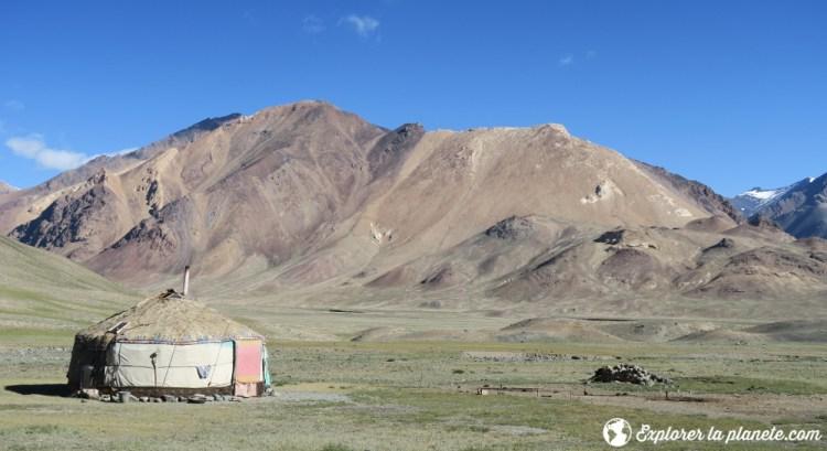 Une yourke kirghize dans la vallée de Pshart.