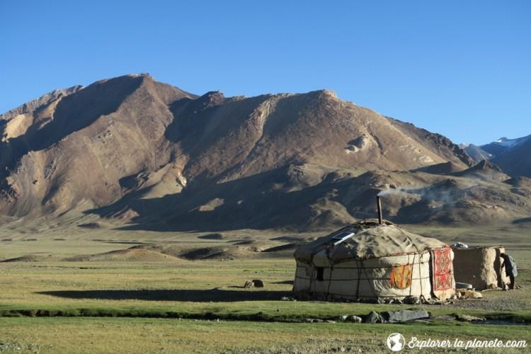 Une yourte kirghize dans la vallée de Pshart.