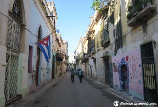 Une rue dans le vieux Havane.