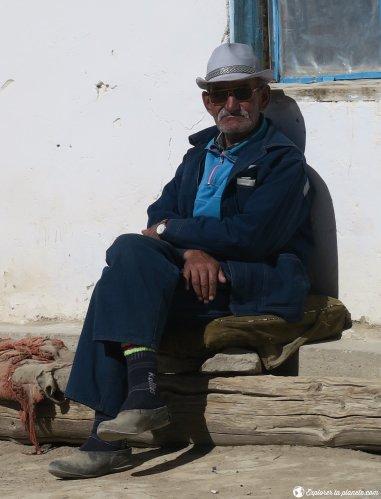 Un homme dans le village de Bulunkul