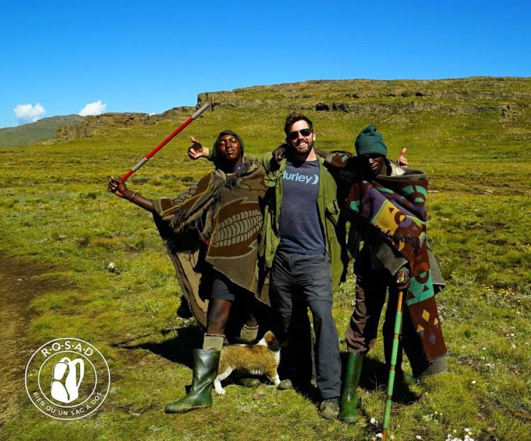 Habitants du Drakesberg au Lesotho