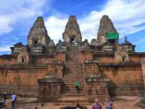 Phnom Bakheng a three towered temple Angkor, Siem Reap, Cambodia