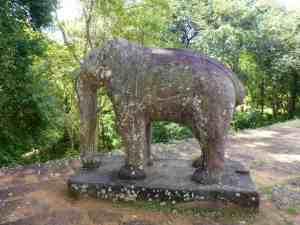 Statue of Elephant in Angkor, Cambodia