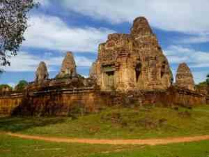 three towered temple Angkor, Siem Reap, Cambodia