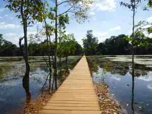 Bridge to an Angkor temple