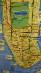 Map of Manhattan New York