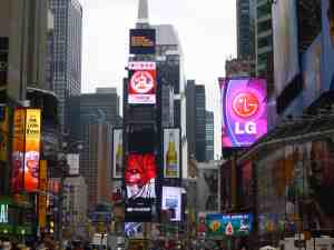 View of Time Square New York