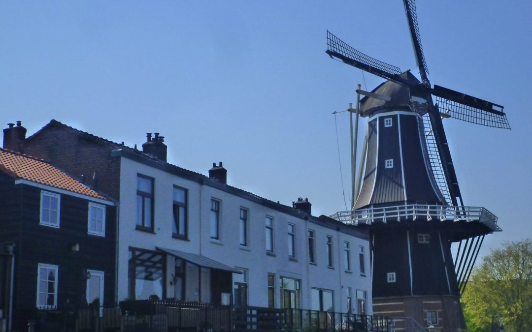 A windmill in Haarlem, Netherlands