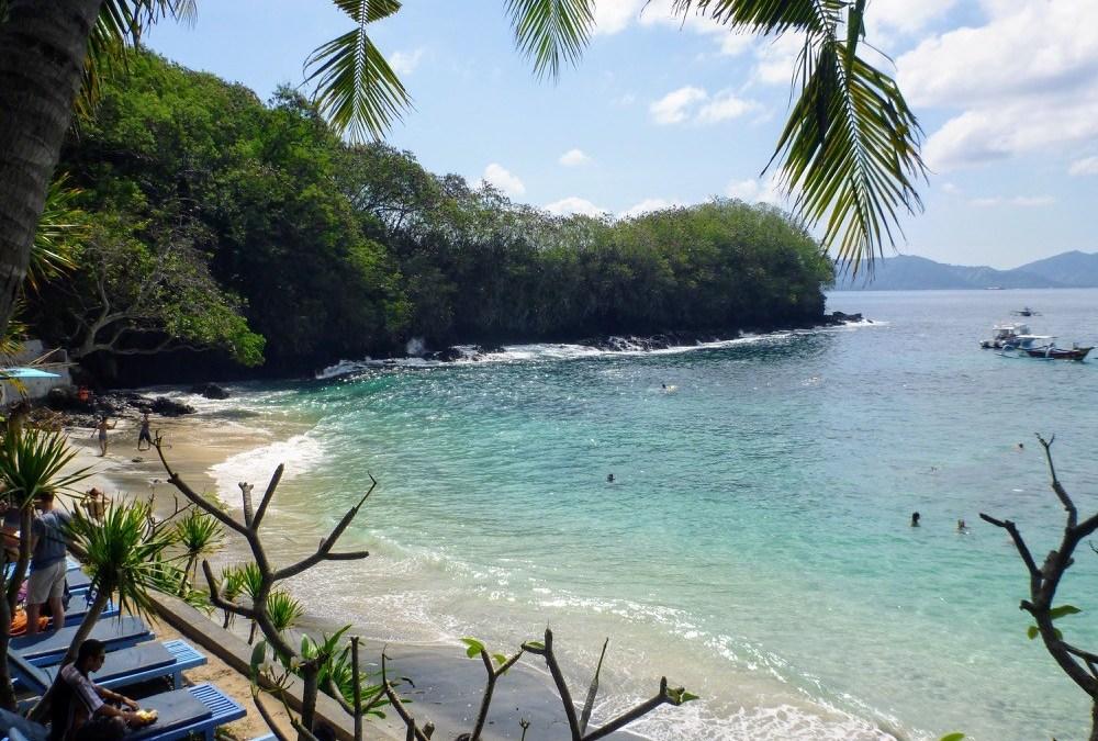 Bali Indonesia blue lagoon beach cove