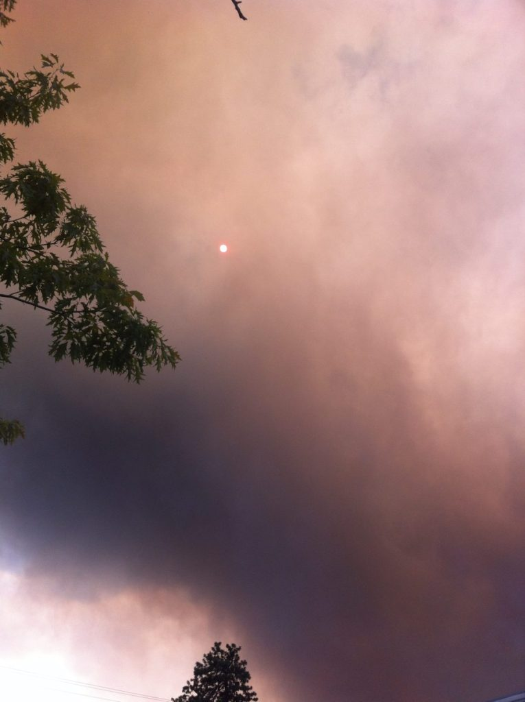 Forest fire in Bend, Oregon