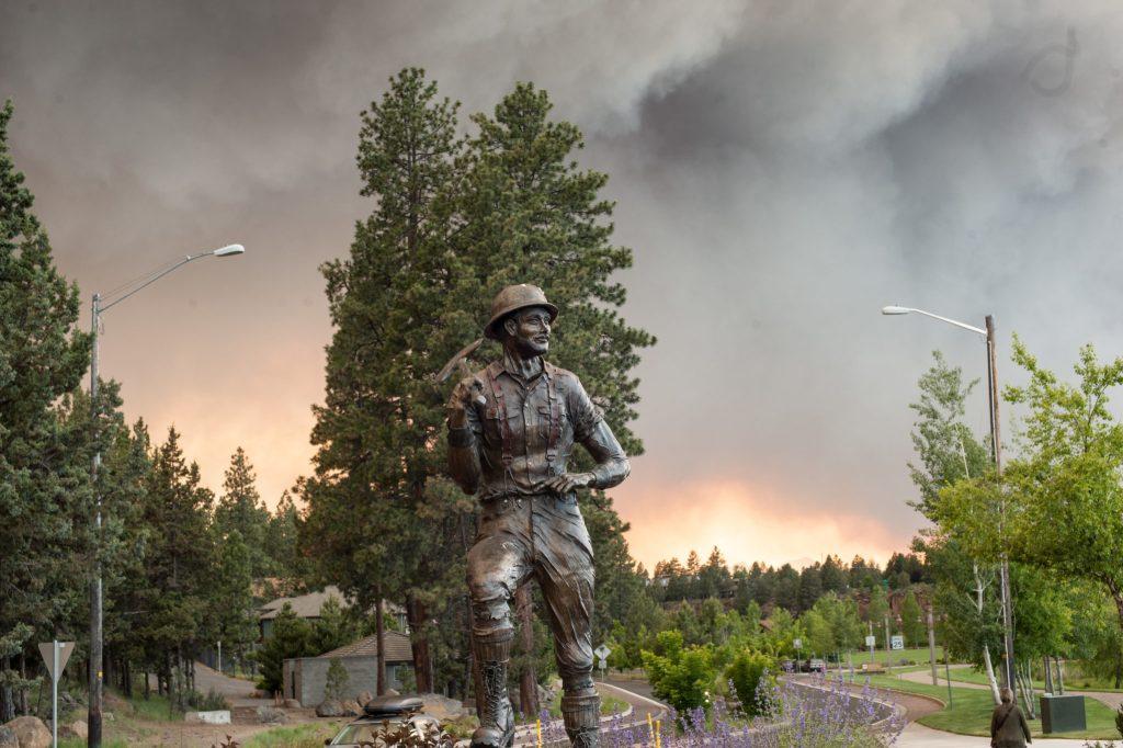 Forrest fire near Bend, Oregon