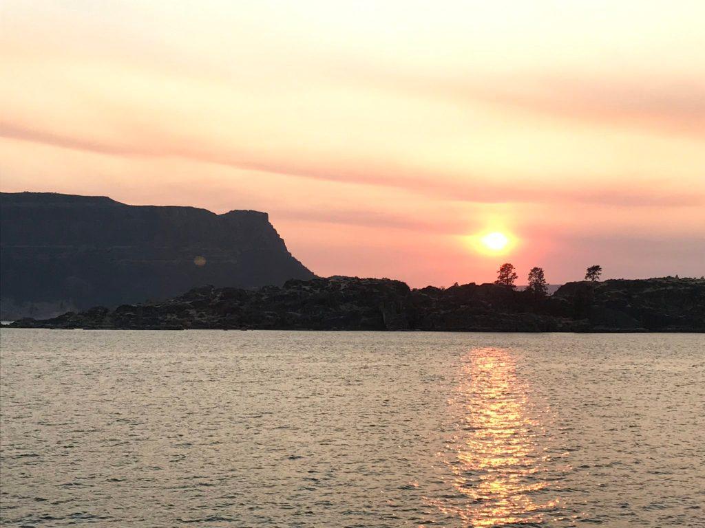 Steamboat Rock Sunset