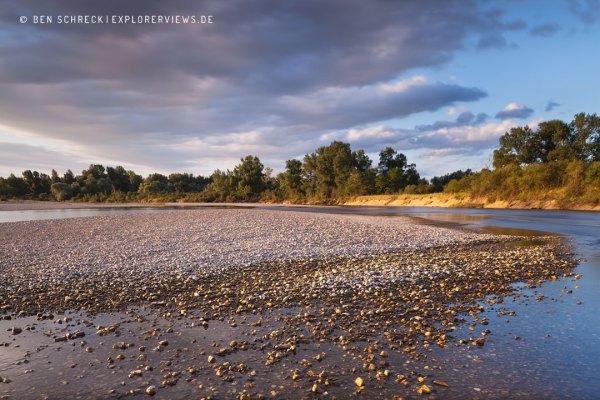 Fluss Allier Chemilly
