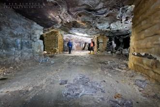 Minenerforscher tief unter der Erde