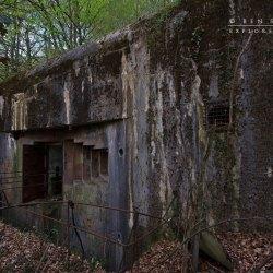 Bunker von Außen Scharte und Panzertür