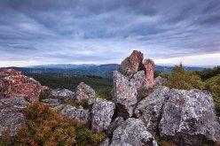 Wald und Fels im Gebirge