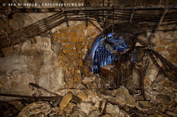 Maginot Bunker Verfallener Aufzugschacht