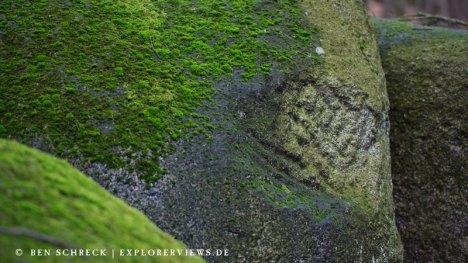 Signatur im Felsenmeer Odenwald