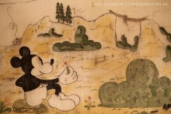 Mickey Mouse Petit Ouvrage Bois de Bousse