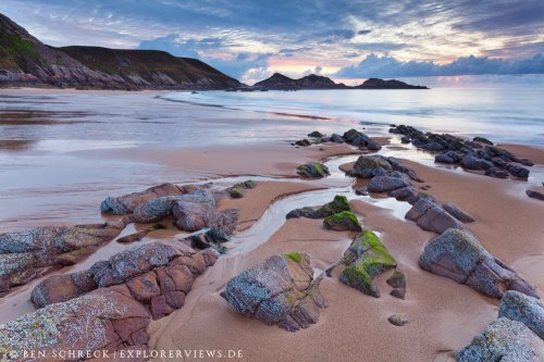 Erquy Strand bei Ebbe Bretagne 9577