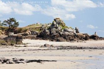 Fels auf der Insel Hebihens