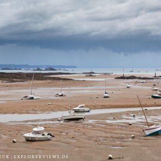 Boote im Hafen von Saint Briac