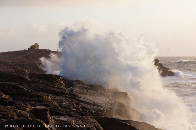 Quiberon wilde Küste Wellen